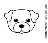 Cute Dog Kawaii Style Vector...