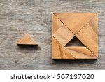 tangram puzzle wait for fulfill ... | Shutterstock . vector #507137020
