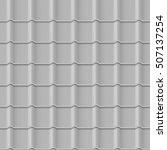 tiled roof seamless pattern....   Shutterstock .eps vector #507137254