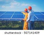 electrician working on ... | Shutterstock . vector #507141409