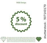 discount five  5  percent... | Shutterstock .eps vector #507143170