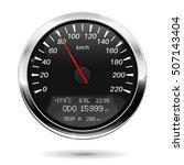 speedometer. kilometers per... | Shutterstock .eps vector #507143404