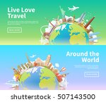 travel to world. road trip.... | Shutterstock .eps vector #507143500