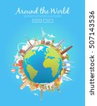 travel to world. road trip.... | Shutterstock .eps vector #507143536