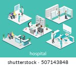 isometric flat interior of... | Shutterstock .eps vector #507143848