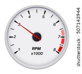 tachometer. car dashboard white ... | Shutterstock .eps vector #507143944