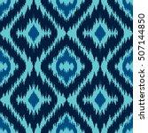 ethnic blue seamless pattern....   Shutterstock .eps vector #507144850