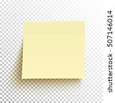Yellow Sticky Note Isolated On...