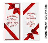 we wish you merry christmas and ... | Shutterstock .eps vector #507146488