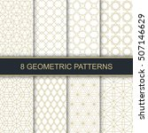 set of vector geometric... | Shutterstock .eps vector #507146629