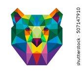 polygon triangle bear head pop... | Shutterstock .eps vector #507147910