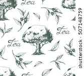 vector seamless pattern with... | Shutterstock .eps vector #507148759
