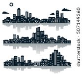 silhouettes of buildings. urban ... | Shutterstock .eps vector #507149260