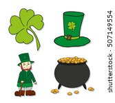 st. patrick's day icons  ... | Shutterstock . vector #507149554