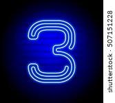 realistic blue neon numbers.... | Shutterstock .eps vector #507151228