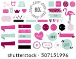 blog design set with ribbons ... | Shutterstock .eps vector #507151996
