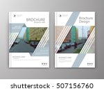 abstract a4 brochure cover... | Shutterstock .eps vector #507156760