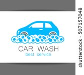 car wash. template concept logo ... | Shutterstock .eps vector #507157048