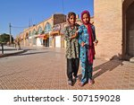 Small photo of Young muslim afghan refugee girls, 31 september 2014, Kerman, Iran
