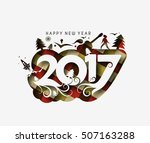 happy new year 2017   new year... | Shutterstock .eps vector #507163288