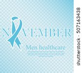 awareness blue ribbon. world...   Shutterstock .eps vector #507163438