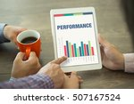 business charts and graphs on... | Shutterstock . vector #507167524
