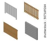 a set of isometric spans fences ...   Shutterstock .eps vector #507169264
