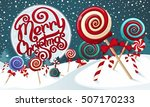 christmas candies  | Shutterstock .eps vector #507170233