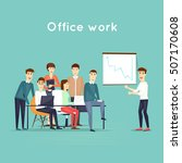 business characters. teamwork.... | Shutterstock .eps vector #507170608