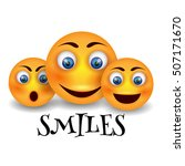 vector smiley face  icon set.  | Shutterstock .eps vector #507171670