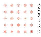 outline snowflakes icons | Shutterstock .eps vector #507173314