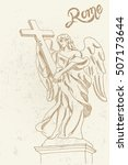 vector sketch of bernini's... | Shutterstock .eps vector #507173644