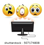 smiley being shocked while... | Shutterstock .eps vector #507174808