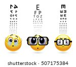 smileys with different types of ... | Shutterstock .eps vector #507175384