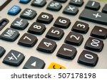Close Up Black Button Calculator