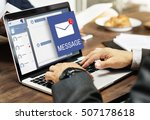 letter envelop message... | Shutterstock . vector #507178618