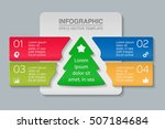 vector infographic template ... | Shutterstock .eps vector #507184684