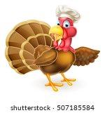 cartoon thanksgiving or... | Shutterstock . vector #507185584