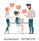 group of happy business people. ... | Shutterstock .eps vector #507187270