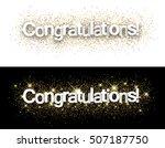congratulations paper banners... | Shutterstock .eps vector #507187750