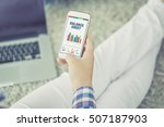 business charts and graphs on... | Shutterstock . vector #507187903