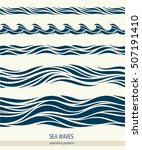 set of seamless patterns with... | Shutterstock .eps vector #507191410