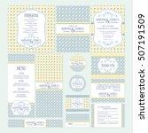 set of wedding cards vector...   Shutterstock .eps vector #507191509
