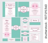 set of wedding cards vector... | Shutterstock .eps vector #507191560