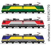 electrical locomotive. railway...   Shutterstock .eps vector #507191770