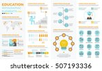 education infographic element... | Shutterstock .eps vector #507193336