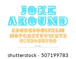 old style alphabet letters and... | Shutterstock .eps vector #507199783