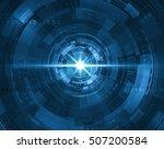 futuristic blue tunnel | Shutterstock . vector #507200584