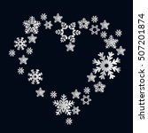 Snowflakes In The Form Of Hear...