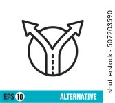 vector lines icon alternative | Shutterstock .eps vector #507203590